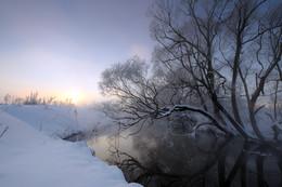 Morgendämmerung, Nebel, Frost .. / ***